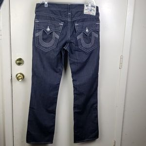 True Religion Natural Saddle straight jean